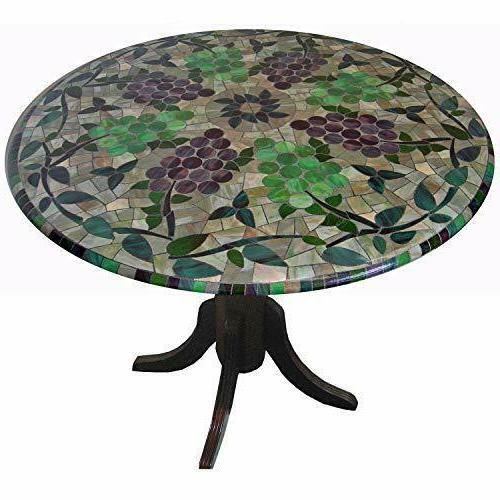 mosaic cloth round elastic edge