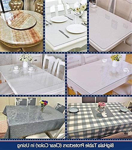 Multi-Size PVC Clear Pads Desk Waterproof Cover Small Plastic Mat Crystal Wipeable Vinyl x