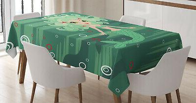 nautical world tablecloth 3 sizes rectangular table