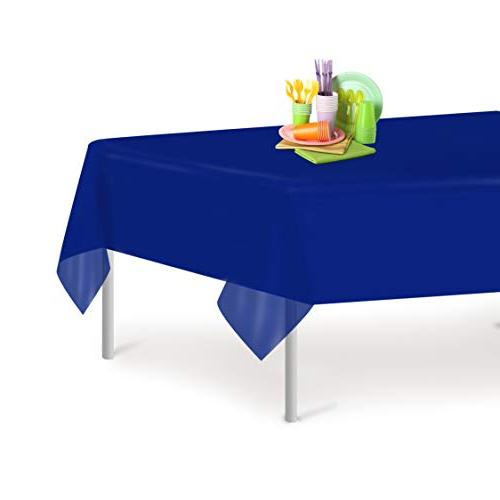 navy blue disposable plastic tablecloth