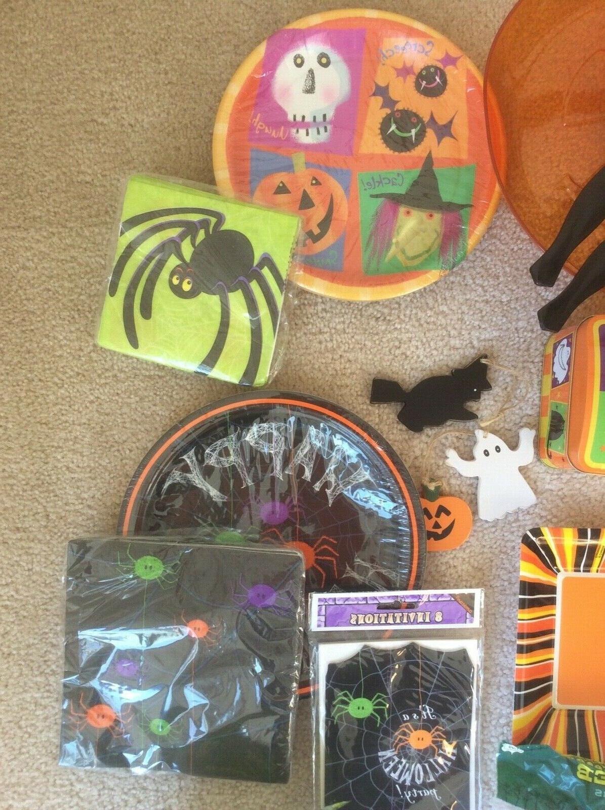 New Halloween 24 Plates Napkin Tray Tin