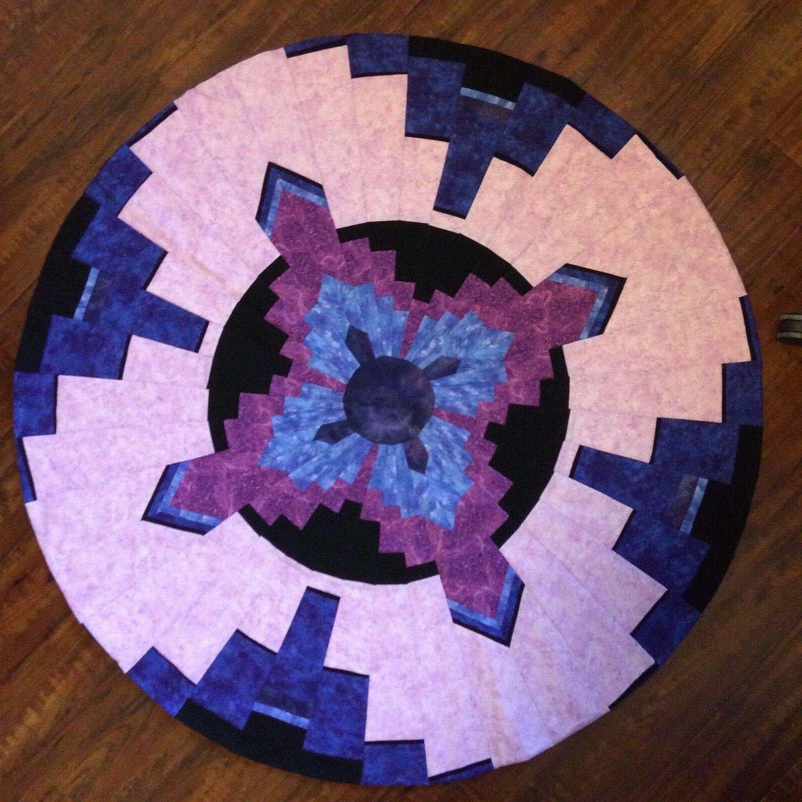 "New Handcrafted Quilted 48"" Round Table Cover"