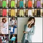 New Women Long Cardigan Loose Sweater Sleeve Knitted Outwear