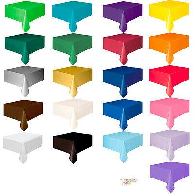 """OBLONG PLASTIC TABLECOVERS TABLE COVER 54"""" X 108"""" COVERS REC"""