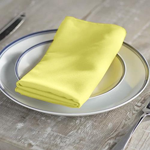 Remedios of Oversized Napkins Banquet Home Dinner, Yellow