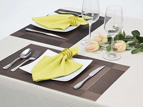 Remedios Set Napkins Home Dinner, Yellow