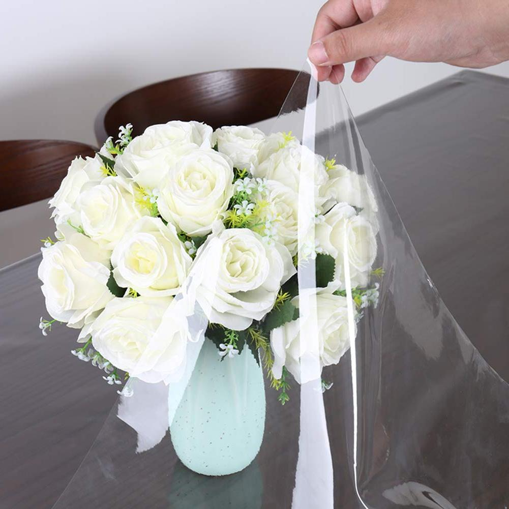 Pa.an Transparent Plastic <font><b>Table</b></font> Cloth <font><b>Clear</b></font> Crystal Tablecloth Soft Glass Picnic Kitchen Dining <font><b>Table</b></font> Protect