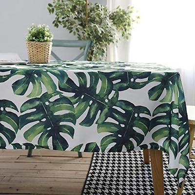 palm leaf tablecloth waterproof cotton table cover