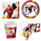INCREDIBLES 2 PARTY PACK FOR 8 GUESTS 1 TABLE COVER 8 CUPS 8