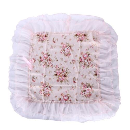 Pink Romantic Tablecloth Lace Bedside Cover