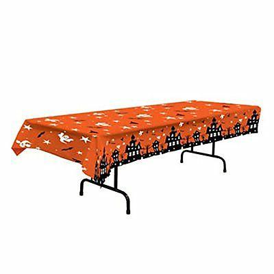 plastic table cover haunted house plastic tablecloth