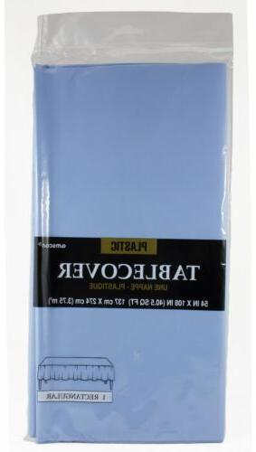 Amscan Plastic Table Cover Rectangular Pastel Blue