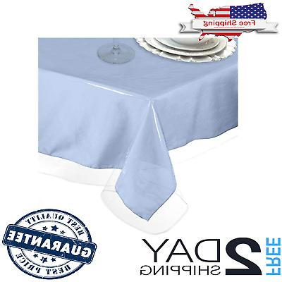 plastic tablecloth protector thick durable table cover