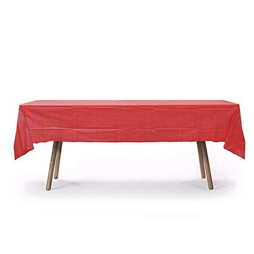 plastic tablecloth rectangle table cover