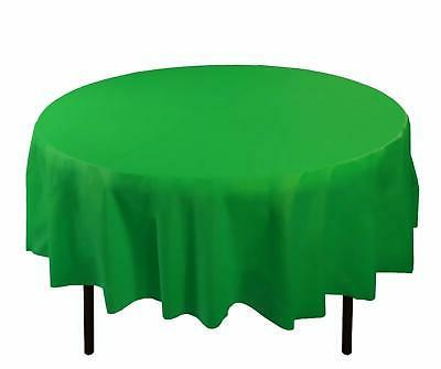 plastic tablecloth round table cover