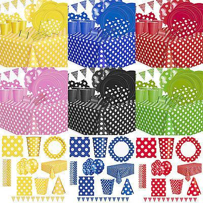 Polka Dot Party Tableware Supplies Table Decorations Birthda