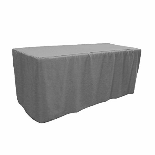 polyester fitted tablecloth