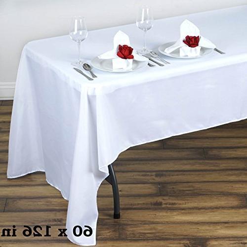 polyester rectangular tablecloth wedding table