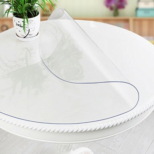 Round Clear PVC Plastic Transparent Protector Tablecloth Cov