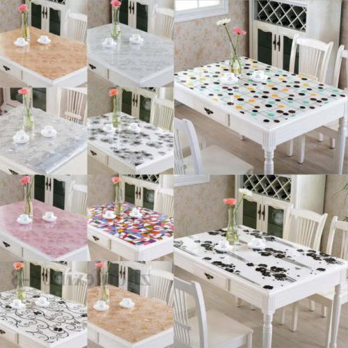 pvc clear soft glass tablecloth rectangle dinning