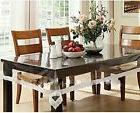 Kuber Industries PVC Dining Table Cover 6 Seater - Transpare