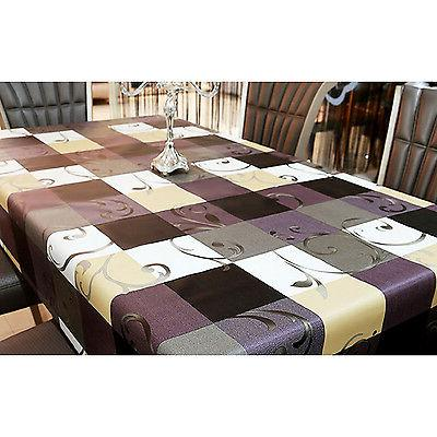 PVC Rectangle Tablecloth Stain-Resistant Wipe Clean Table Cover