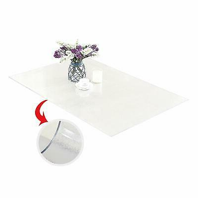 PVC Cover Protector Desk Pads Custom 2mm Thick Clear
