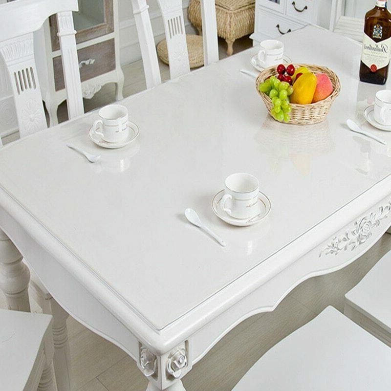 pvc table cover protector desk pad soft