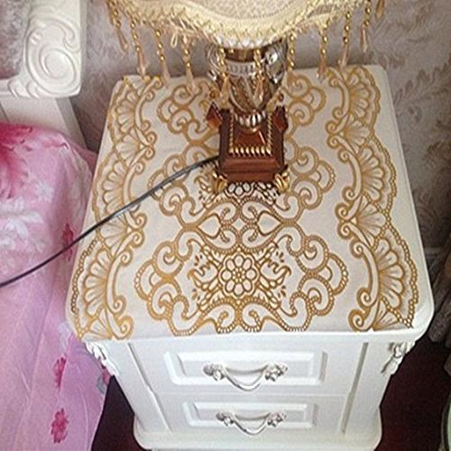 pvc tablecloth gold sequin