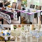 PVC Vinyl Clean Tablecloth Dining Kitchen Table Cover Protec