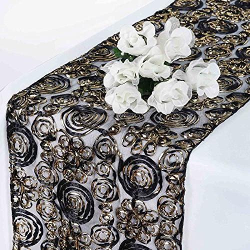 raised roses lace table runner