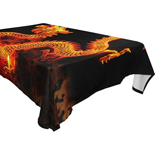 rectangle chinese dragon lantern tablecloth