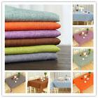 Solid Color Rectangle Tablecloth Table Cover Linen Kitchen H