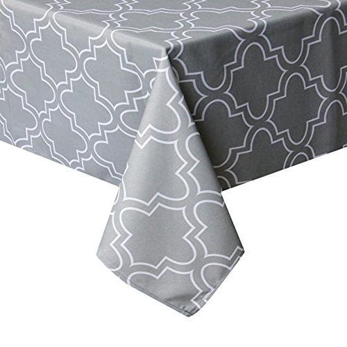 rectangle geometric floral print tablecloth