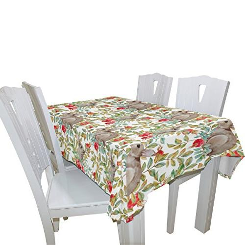 ALIREA Tablecloth for Wedding Party Washable Polyester Cover, Inch