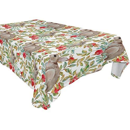 rectangle rabbits tablecloth