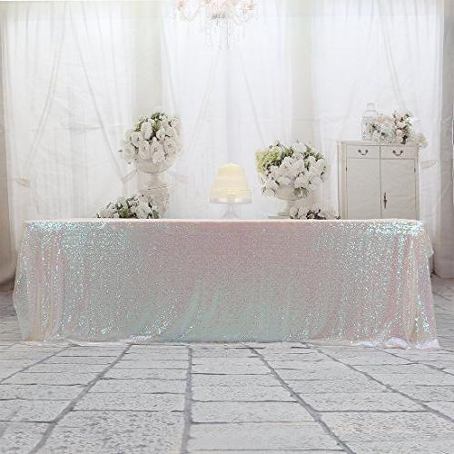 rectangle sequin tablecloth