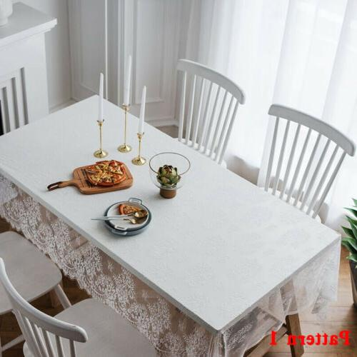 Rectangle Square Table Cover Lace Cloth Party Decor US
