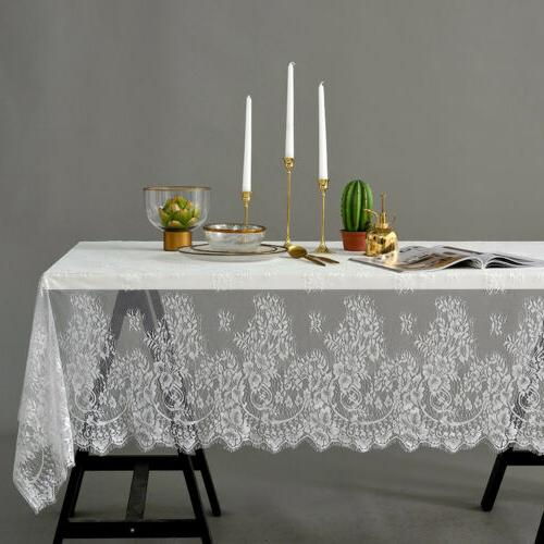 rectangle square table cover lace cloth tablecloth