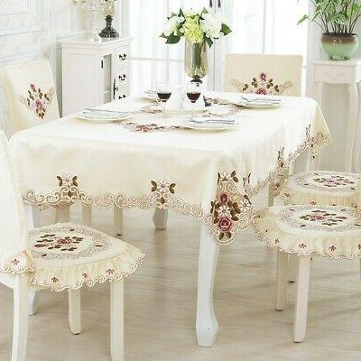 New Polyester Embroider Household Kitchen Table Cloth Dining