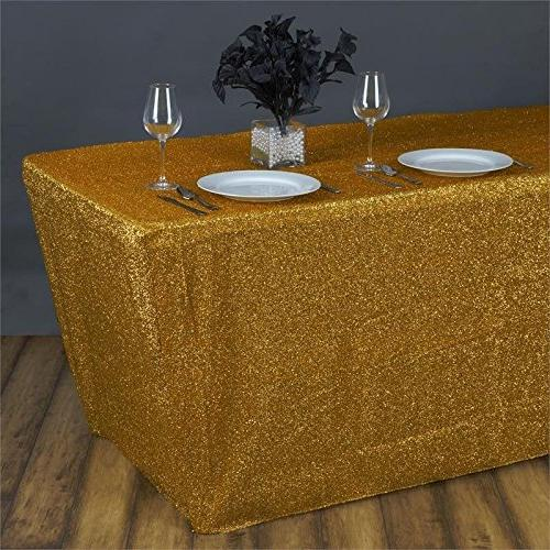 rectangle table cover metallic gold