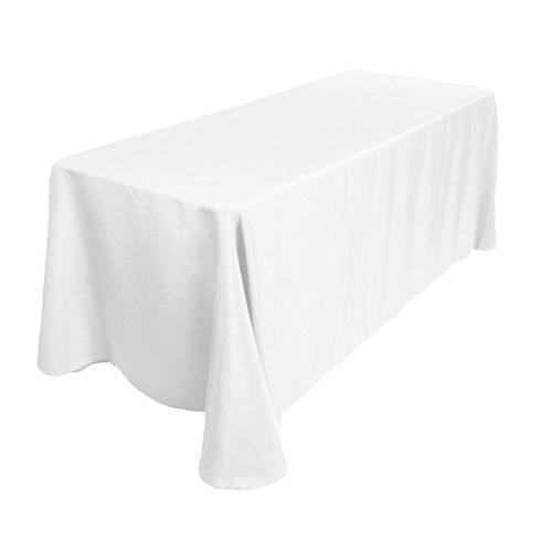 LinenTablecloth 90 x 156-Inch Rectangular Polyester Tableclo