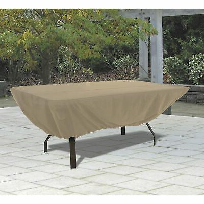 rectangular patio table cover tan 58242