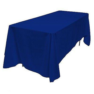 LinenTablecloth Rectangular Polyester Blue