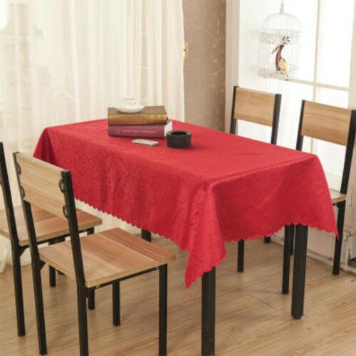 Rectangular Polyester Tablecloth Floral Dining Table Cover H