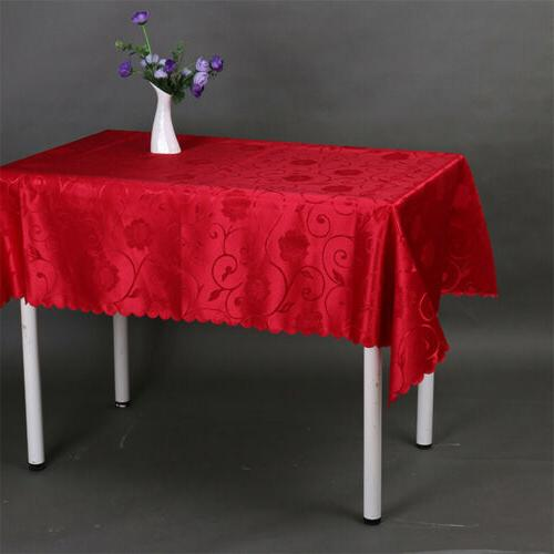 Rectangular Polyester Dining Table Home Kitchen