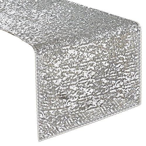 rectangular sparkling sequins table runner