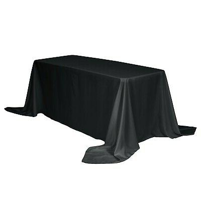 rectangular tablecloth 90 x 132 inch solid