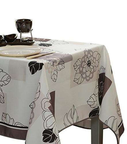 rectangular tablecloth ivory white floral