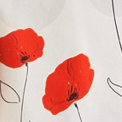 60 x 120-Inch Tablecloth Ivory White Red Poppy Stain Washable, Spills up, Seats 10 to 12 People